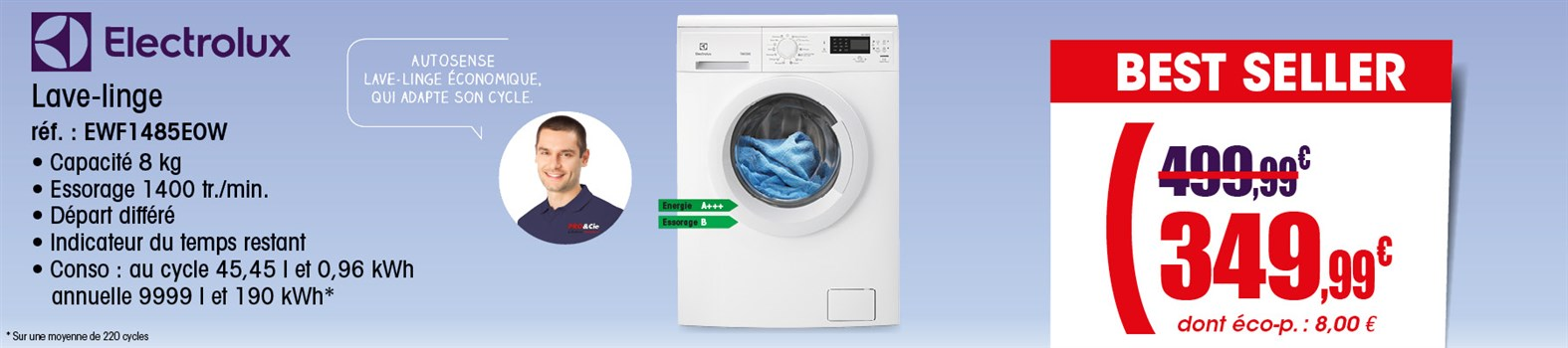 Lave Linge Electrolux EWF1485EOW