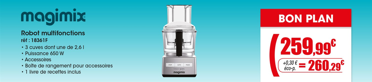 Robot multifonction Magimix 18361F